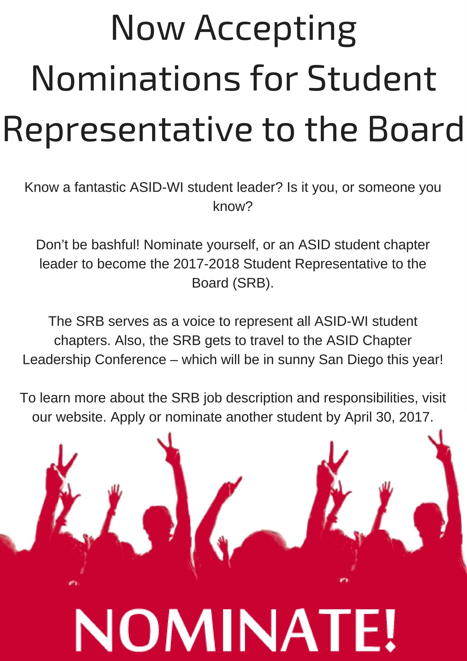 Student Representative To The Board Srb Nomination